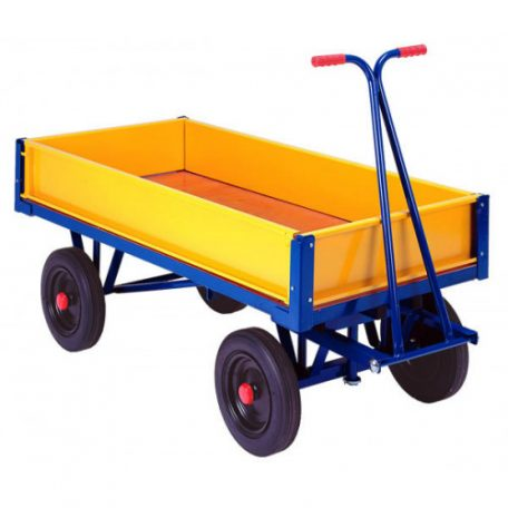 turntable truck low steel sides